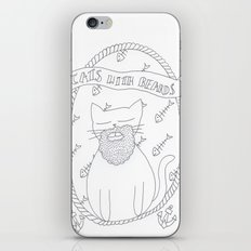cats with beards iPhone & iPod Skin