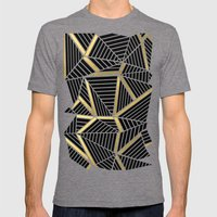 Ab Lines 2 Gold Mens Fitted Tee Tri-Grey SMALL