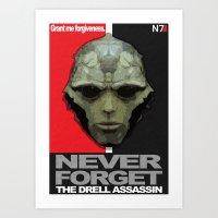 NEVER FORGET - Thane Krios - Mass Effect Art Print