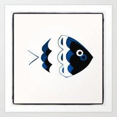 blue fish Art Print