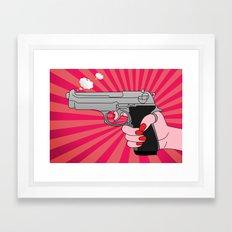 comics gun  Framed Art Print