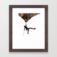 Rock Climbing  Framed Art Print