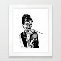 Zombie at Tiffany's Framed Art Print