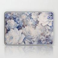 Blue Vintage Floral Laptop & iPad Skin