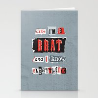 Brat Attack Stationery Cards