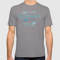 Life is what you make it. Mens Fitted Tee Tri-Grey SMALL