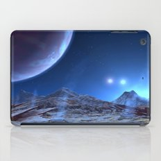 Extraterrestrial Landscape : Galaxy Planet Blue iPad Case