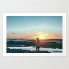 sunset hunter Art Print