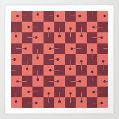 pattern series 074 layout  Art Print