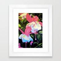Fushcia Function Framed Art Print