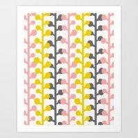 Sprig - Pink Lemonade Art Print