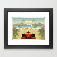 Formula 1 in Monaco Framed Art Print