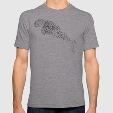 Bubbles the Snow Leopard Mens Fitted Tee Athletic Grey SMALL