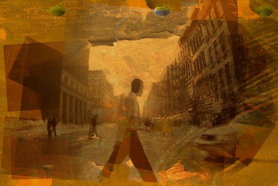 old postcard from New York Art Print