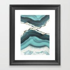 Sea Agate Framed Art Print
