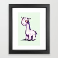 Purple Giraffe Framed Art Print