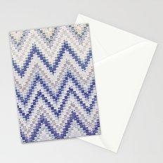 PURPLE SEVENTIES CHEVRON Stationery Cards