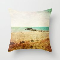 Beach in southern France - summer memories Throw Pillow