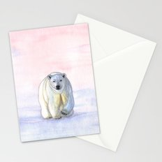 Polar bear in the icy dawn Stationery Cards