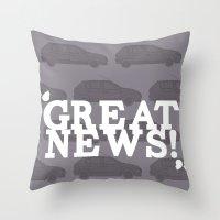 Great News Throw Pillow