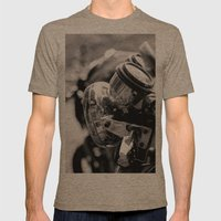 Moto Mens Fitted Tee Tri-Coffee SMALL