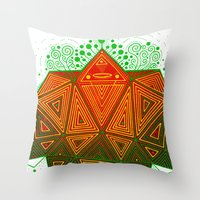 Yello Warrior Throw Pillow