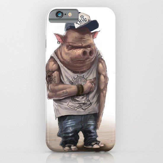 Pig Thug iPhone & iPod Case