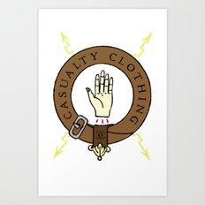 Casualty - Hand Art Print