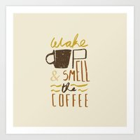 coffee Art Prints featuring Coffee by David