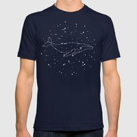 Whale Constellation  Mens Fitted Tee Navy SMALL