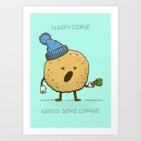 The Sleepy Cookie Art Print