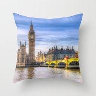 Westminster Bridge And B… Throw Pillow