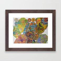 7 Monkeys Orbiting Cosmic Knowledge Framed Art Print