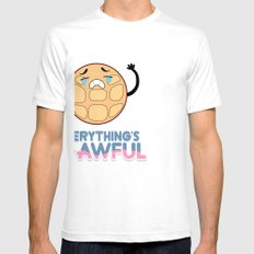 EVERYTHING'S W-AWFUL - STEVEN UNIVERSE - CRYING BREAKFAST FRIENDS White Mens Fitted Tee SMALL