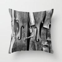Orchestra (b/w) Throw Pillow
