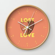 Lost in love Wall Clock