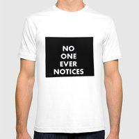 no one Mens Fitted Tee White SMALL