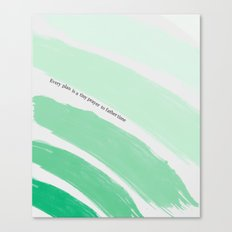 Every Plan is a Tiny Prayer to Father Time - Death Cab for Cutie Watercolor Rainbow Canvas Print