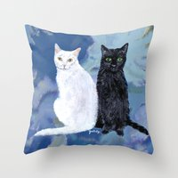Kingston and Midnight Throw Pillow