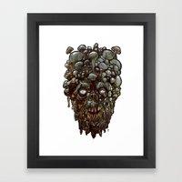 Heads of the Living Dead Zombies: Mushroom Head Zombie Framed Art Print