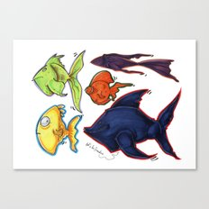 Fishy fishes Canvas Print