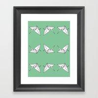 Paper Crane Motif, 2013. Framed Art Print