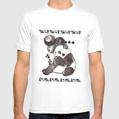 European Panda White SMALL Mens Fitted Tee