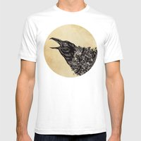 CROW-ded Mens Fitted Tee White SMALL