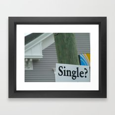 Street Single. Framed Art Print