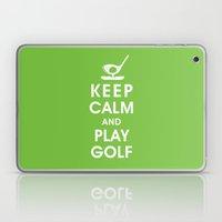 Keep Calm and Play Golf Laptop & iPad Skin