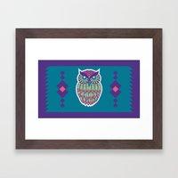 Indie Owl Framed Art Print