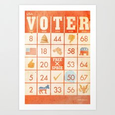 The Bingo Vote Art Print