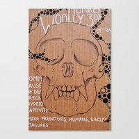 Monkey Skull Canvas Print