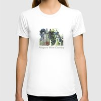 niagara wine country / grapes  / digital painting Womens Fitted Tee White SMALL